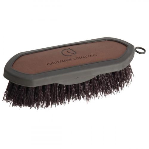 Coldstream Faux Leather Dandy Brush - Brown/Black - 18.3 x 6cm