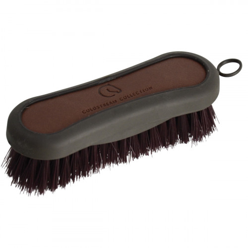 Coldstream Faux Leather Face Brush - Brown/Black - 12.8 x 4.3cm