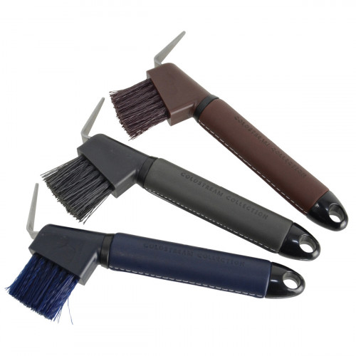Coldstream Faux Leather Hoof Pick - Brown/Black - 19cm
