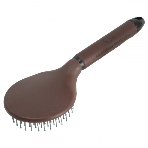 Coldstream Faux Leather Mane and Tail Brush - Brown/Black - 25cm